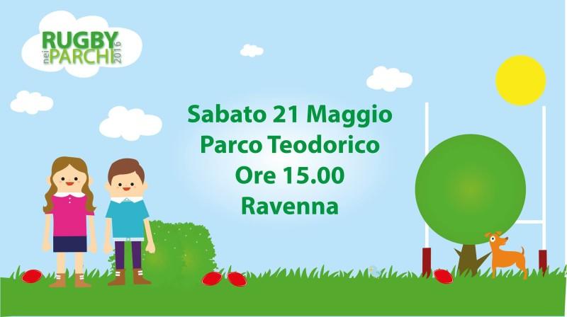 """Il 21 maggio a Ravenna """"Rugby nei Parchi"""""""