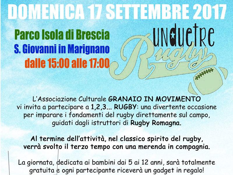 1,2,3…RUGBY! Il 17 settembre a S. Giovanni in Marignano una giornata tutta dedicata al rugby