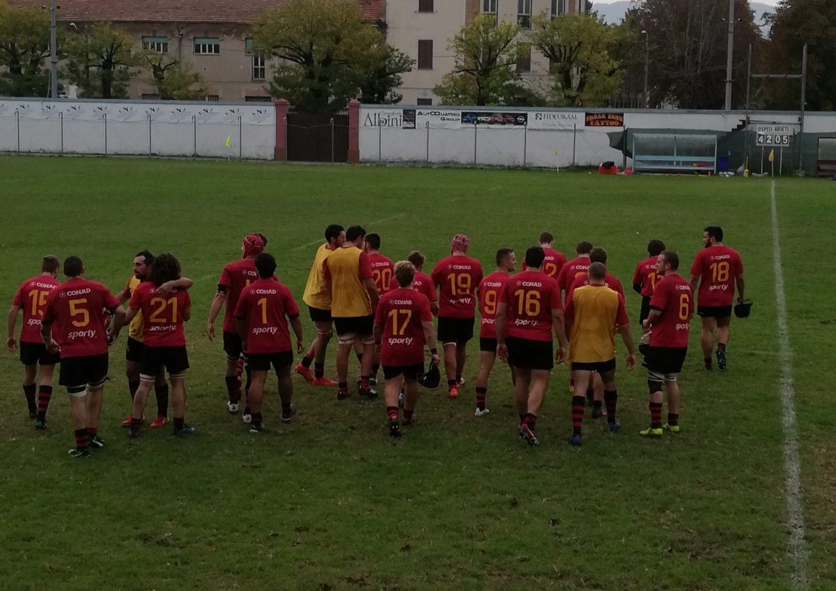 A Rieti vittoria con bonus per i galletti: 40-5 sugli Arieti