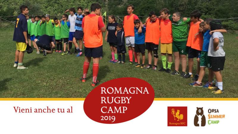 L'edizione 2019 del Romagna Rugby Camp: dal 9 al 15 giugno a Badia di Susinana
