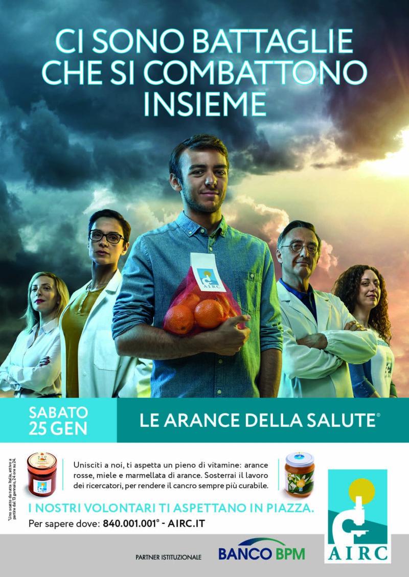 """Il Romagna RFC con AIRC per l'iniziativa """"LE ARANCE DELLA SALUTE"""""""